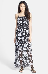 kensie 'Spaced Floral' Woven Maxi Dress
