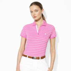 Striped Stretch-Cotton Polo