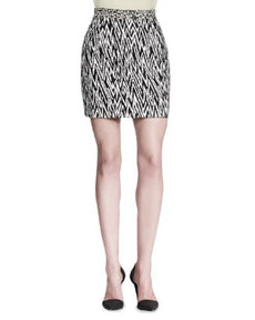 Abstract-Print Miniskirt   Abstract-Print Miniskirt