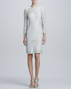 Kay Unger New York Lace-Tiered Cocktail Dress