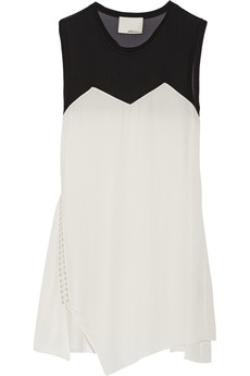 3.1 Phillip Lim Embellished stretch-silk and chiffon dress