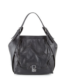 Kooba Valerie Leather Latch Shoulder Bag, Black