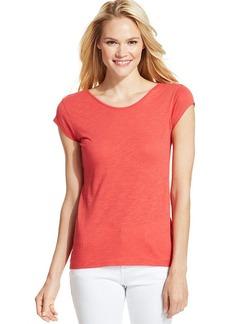 Calvin Klein Jeans Short-Sleeve Scoop-Neck Top