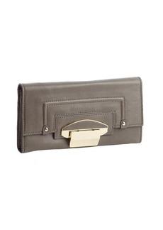 Kooba stone leather foldout flip lock continental wallet