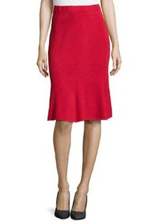 St. John Fit-and-Flare Knit Skirt, Ruby