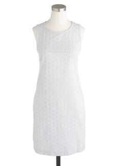 Seersucker eyelet shift dress