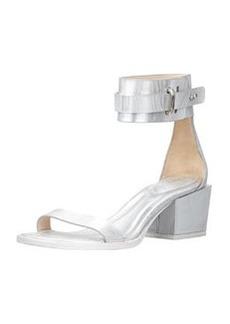 Coco Metallic Mid-Heel Ankle Sandal   Coco Metallic Mid-Heel Ankle Sandal