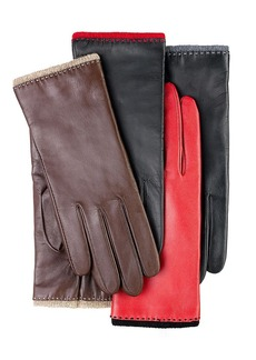 Charter Club Leather with Cashmere Trim Gloves