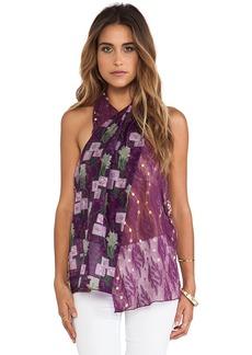 Anna Sui Windermere Print Tank in Purple