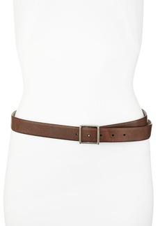 Brunello Cucinelli Leather Hip Belt, Espresso