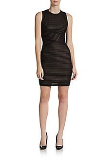 Calvin Klein Illusion Striped Knit Dress