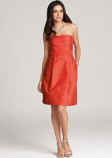 Silk Dupioni Strapless Dress