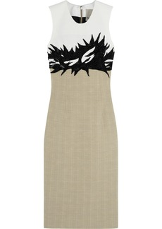 Jason Wu Embellished woven and cotton-tweed dress