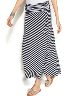 INC International Concepts Petite Convertible Striped Maxi Skirt
