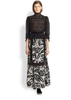 Marc Jacobs Forest Taffeta Maxi Skirt