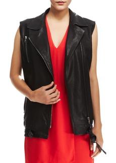 J Brand Ready to Wear Hubbard Long Leather Vest