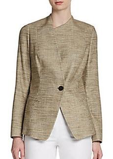Lafayette 148 New York Bridget Asymmetrical Jacquard Jacket