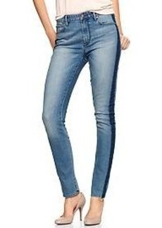 1969 side-stripe high-rise skinny jeans