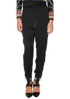 Emilio Pucci Silk Harem Pants, Black