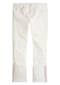 Point Sur slim stacker Japanese selvedge jean in marshmallow wash