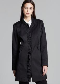 DKNY Sabrina Ruffle Coat
