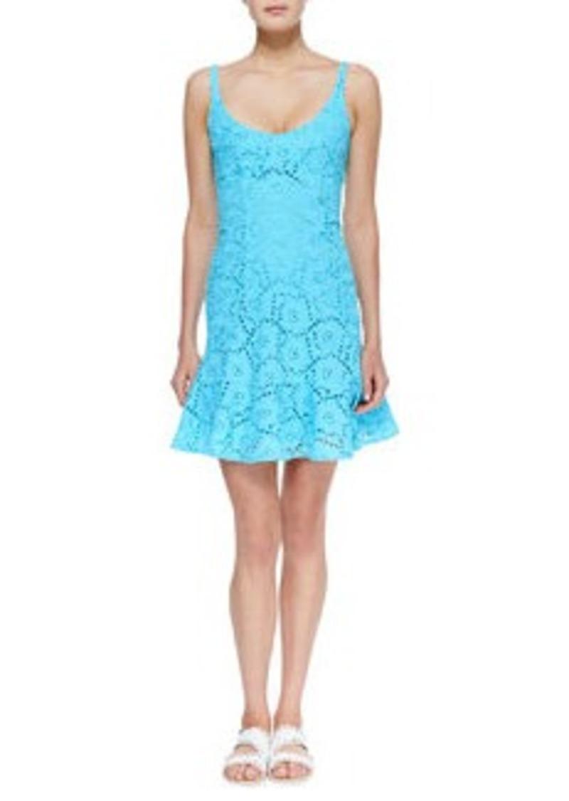 Summer Eyelet Ruffle-Hem Dress   Summer Eyelet Ruffle-Hem Dress