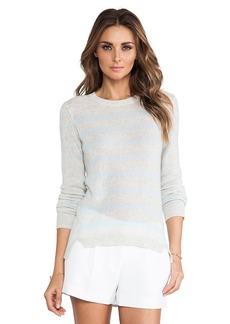Rebecca Taylor Cashmere Striped Sweater in Gray