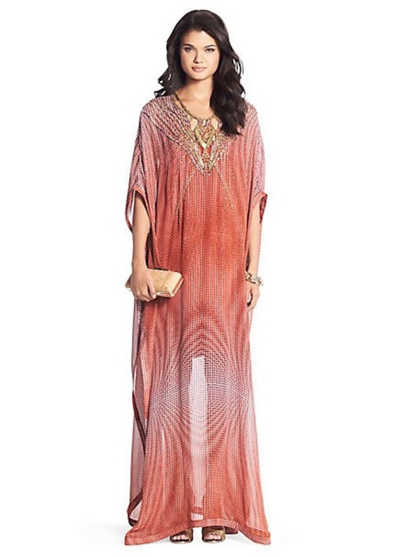 Clare Beaded Chiffon Kaftan Maxi Dress
