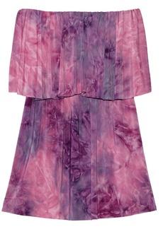 T-Bags Tie-dyed satin-jersey mini dress