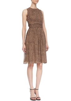 Michael Kors Leopard-Print Dance Dress
