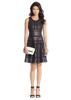 Margot Trim Detail Leather Dress