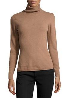 Lafayette 148 New York Cashmere-Blend Turtleneck Sweater, Amaretto