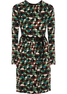 M Missoni Open-back printed stretch-jersey dress