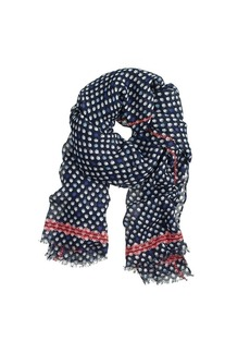 Flower bud print scarf