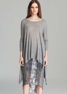 DKNY Pure Trapeze Side Slit Pullover