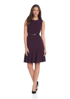 Calvin Klein Women's Dress with Trumpet Hem