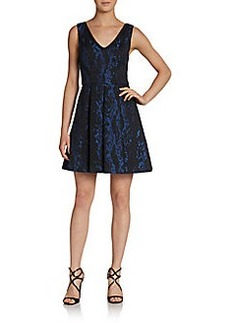ABS Lace Fit & Flare Cocktail Dress