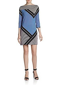 Diane von Furstenberg Ruri Silk Striped Shift Dress