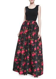 Michael Kors Rose Faille Ball Skirt