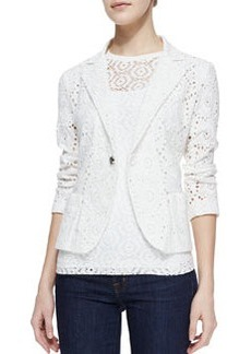Nanette Lepore The Eyes Have It Eyelet Jacket