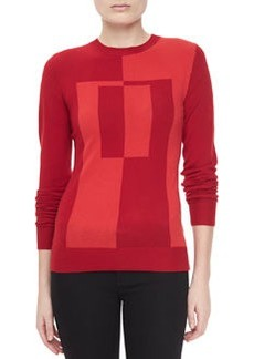 Jason Wu Colorblock Intarsia Crewneck Sweater