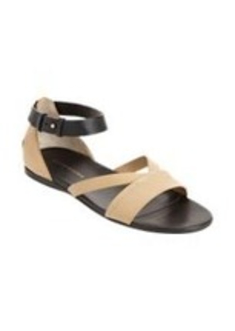 Costume National Colorblock Ankle Strap Sandal