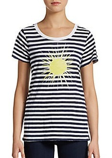 French Connection Striped Graphic-Sun Tee