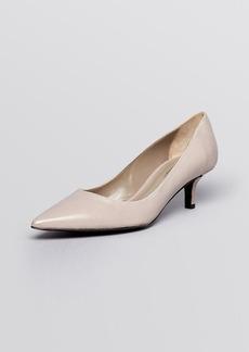 Delman Pointed Toe Pumps - Belle Mid Heel