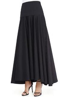 Robert Rodriguez Long High-Low Shirting Skirt