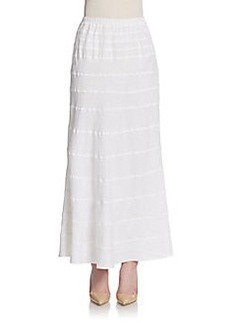 Saks Fifth Avenue BLUE Tiered Linen Maxi Skirt