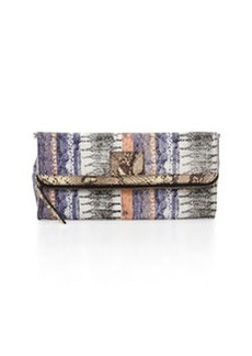 12th Street by Cynthia Vincent Banker's Snake-Print Fold-Over Clutch Bag
