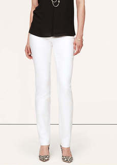 Doubleweave Cotton Fitted Straight Leg Pants in Marisa Fit