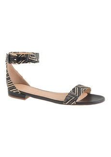 Maya raffia ankle-strap sandals