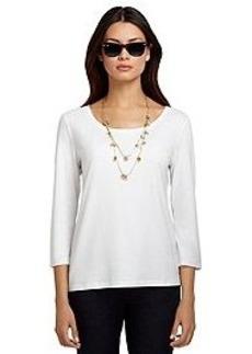 Three-Quarter Sleeve Layering Shirt